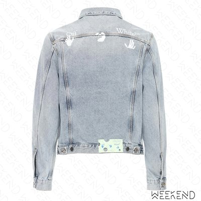 【WEEKEND】 OFF WHITE Logo 牛仔 外套 夾克 藍色 20秋冬