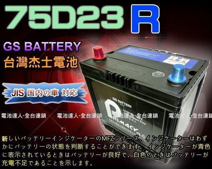 【鋐瑞電池】杰士 GS 統力 汽車電池 75D23R 納智捷 U6 U7 M7 K5 LEGACY OUTBACK