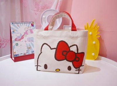 樂天三麗鷗hello kitty帆布包側背包手提袋午餐袋便當袋手拎包日雜包~台南仁德可面交