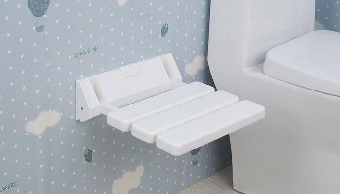 【奇滿來】新款防滑 淋浴椅 耐重壁椅 換鞋凳 收納椅 小凳子 可折疊椅 衛浴浴室座椅 長者居家照護 防滑防水 AYAJ