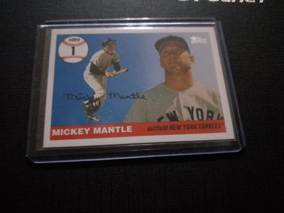 2006 topps mickey mantle HR1(P)