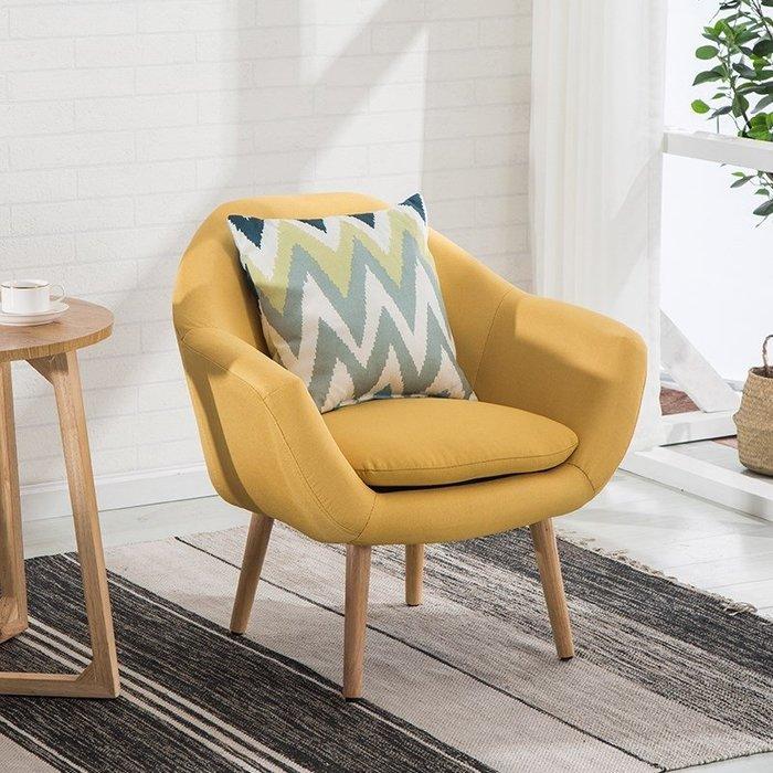 貴妃椅北歐單人懶人布藝沙發椅簡約休閒陽台臥室客廳小戶型雙人沙發迷你
