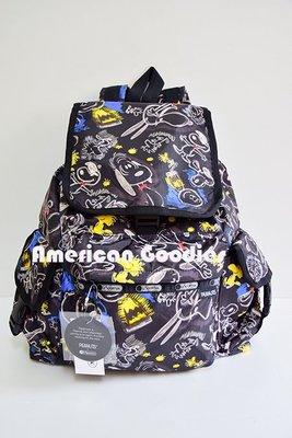 全新真品 LeSportsac大後背包 (Voyager)- 7839 Chalkboard Snoopy 史努比