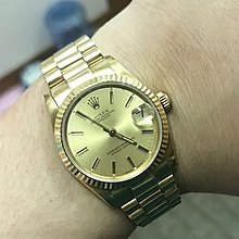 90%NEW ROLEX 68278 全自動雙推日曆 18K金錶 31mm boy size 水晶玻璃 本地金帶 $39800