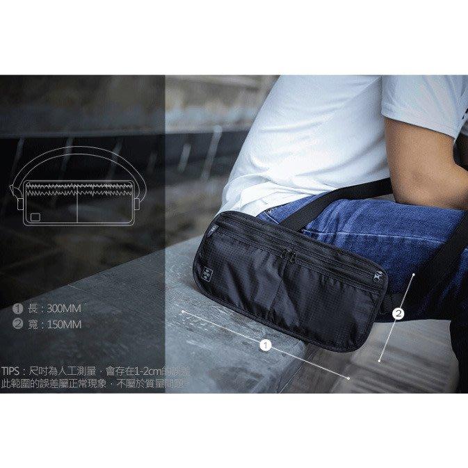 特價中 (現貨) 出國旅行證件收納 RFID防盜證件收納包 出國旅行 護照收納隨身包  貼身 腰包 (黑色)