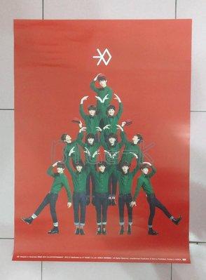 EXO   12月的奇蹟   官方海報 紅 Miracles in December 十二月的奇蹟