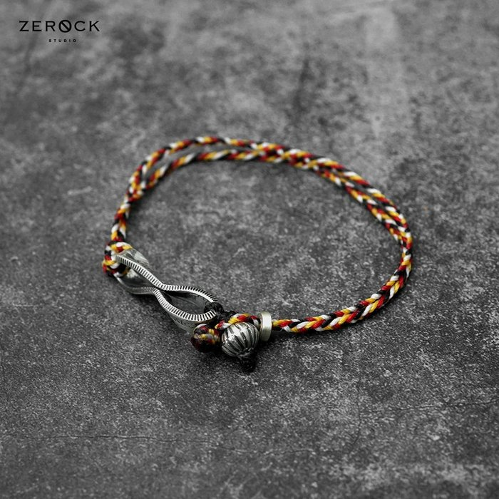 《ZEROCK》日本 NORTH WORKS 25美分 捲曲硬幣 混色蠟繩手環