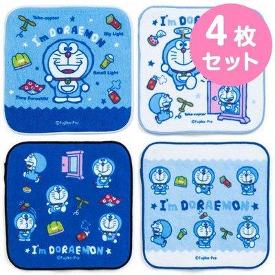 ♡fens house ♡日本進口 小叮噹 Doraemon 哆啦a夢  綿 方巾 手帕 4條一組  16x16公分