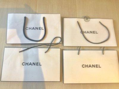 "【Chanel】原裝 paper bags 紙袋 有4個, 每個$35, 5.5"" x 4.75"" x 2"""