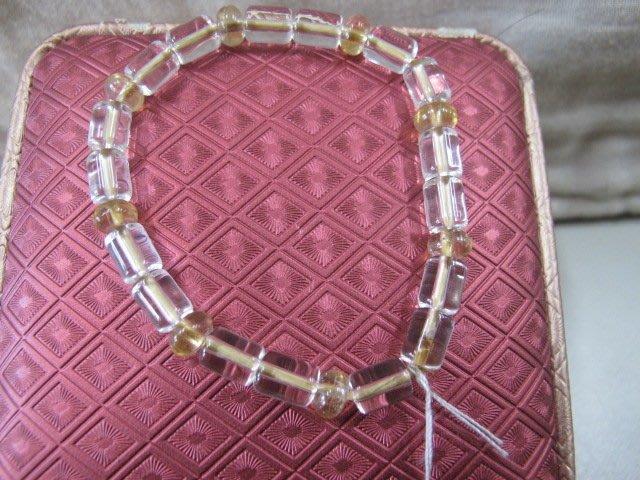 二手舖 NO.254 天然白水晶 手鍊 手排 串珠