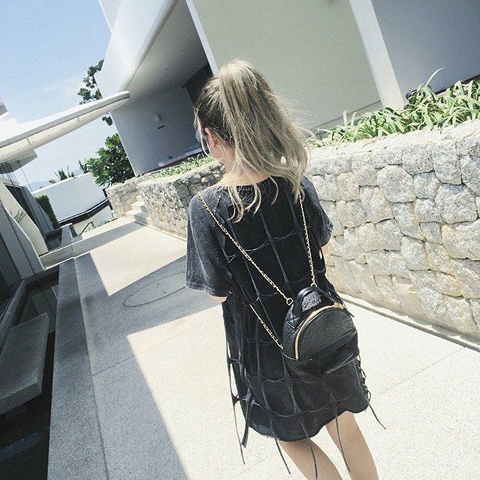 韓國連線  兩用迷你復古 小皮革 後背包 斜背包 側背包 水餃包 錢包 托特包 書包 媽媽包  手提包 包包  韓妞女包