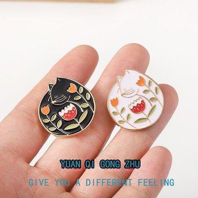 熱銷款日韓個性創意鏟屎官寵物貓咪可愛胸針卡通徽章