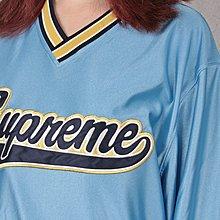 【HYDRA】Supreme Baseball Wram Up Top 球衣 長T 長袖 藍 白【SUP289】