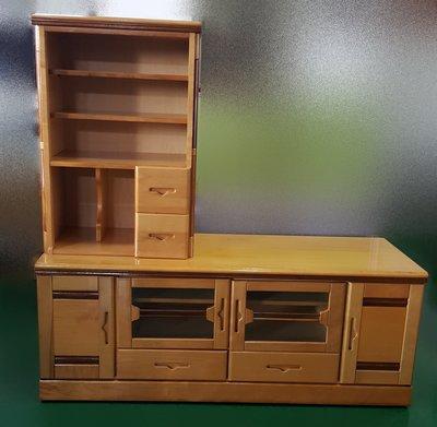 【宏品二手家具】 傢俱工廠直營 A22719*木色電視櫃*矮櫃 平面櫃 高低櫃 沙發櫃 酒櫃 書櫃 中古傢俱大拍賣