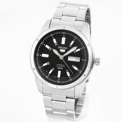 現貨 可自取 SEIKO SNKN13J1 精工錶 精工5號 手錶 機械錶 44mm 黑面盤 鋼錶帶 男錶女錶