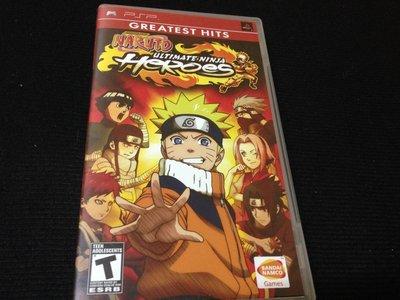 PSP遊戲 火影忍者 終極英雄無幻城之卷 Naruto 英文美版 RK