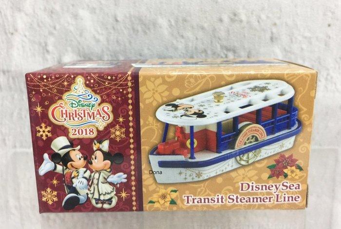 【Dona日貨】日本迪士尼樂園限定 Tomy Tomica  2018年35週年聖誕節米奇米妮 海洋渡輪 B13