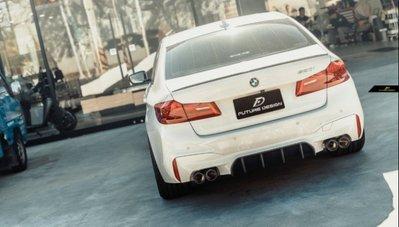 【台中政銓】BMW F90 M5 專用 FD 抽真空 高品質 乾碳 卡夢 後下巴 現貨 免費安裝 G30 適用