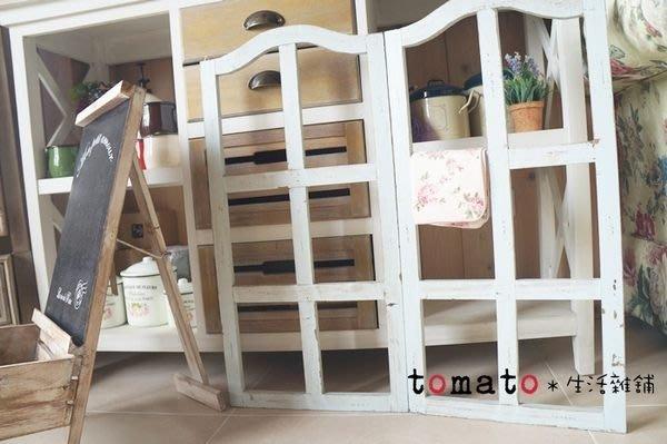 ˙TOMATO生活雜鋪˙韓國進口雜貨仿舊刷色藍白木窗造型家飾擺設品