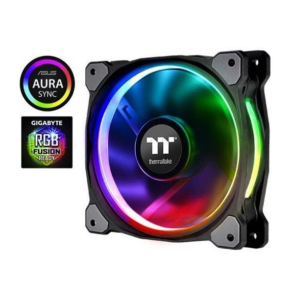 [ 邁克電腦 ]Thermaltake Riing Plus H12 RGB水冷排風扇 三顆風扇+控制器