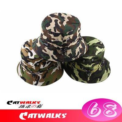 台灣現貨  * Catwalks 搖滾の貓 * 軍事風經典柔軟款迷彩漁夫帽 ( 野戰迷彩、草綠迷彩、雪地迷彩 )
