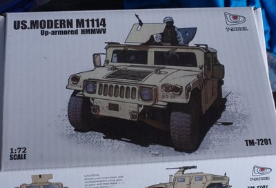 T-model -TM-7201-1/72-US- M1114 -Up-Armored -HMMWV -w/PE parts-1/72-加3元費-M-717