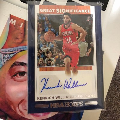 2019-20 Panini NBA Hoops Great SIGnificance Kenrich Williams Rookie Auto鵜鶘隊非Zion