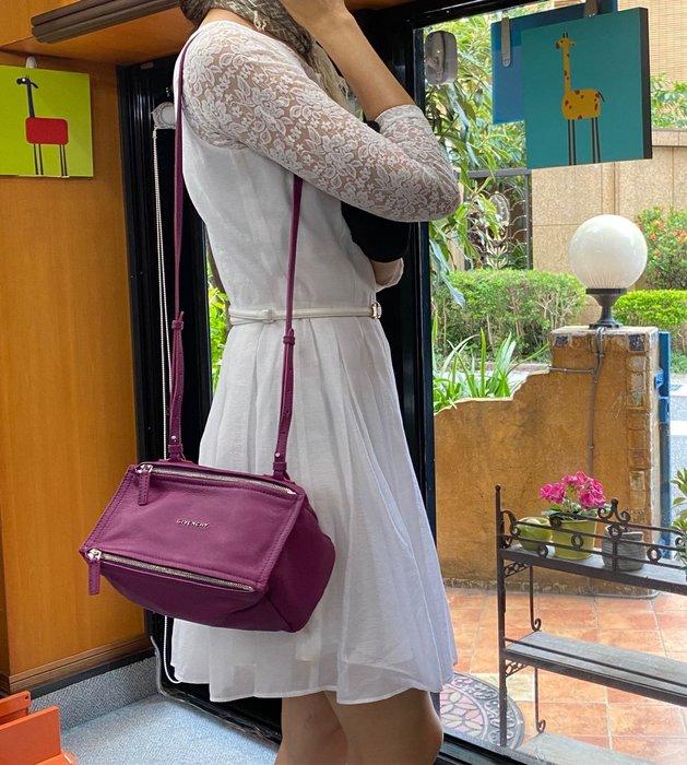 美麗堡 GIVENCHY 紀梵希 慾望包 PANDORA MINI 潘朵拉 迷你 肩背斜背包 紫紅色 現貨(限量珍藏)