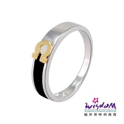 威世登時尚珠寶  幸運馬蹄釦K金戒指 對戒系列 男戒 KA00041B-AGDXX