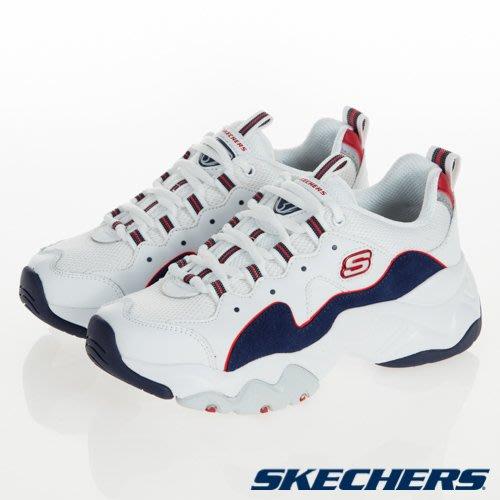 SKECHERS Dlites 3.0 Zenway 白 藍紅皮革 麂皮 老爹鞋 女 12955WNVR☆SP☆