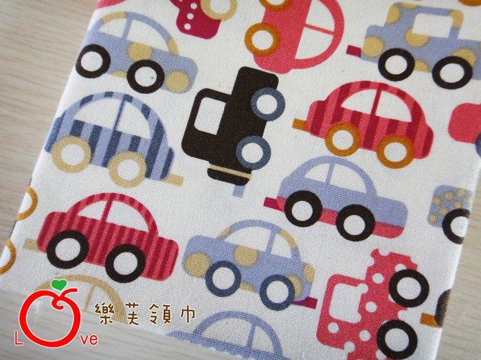 *樂芙領巾*繽紛汽車款(紅底),嬰兒/兒童三角巾、口水巾、圍兜,可訂製大小及親子領巾