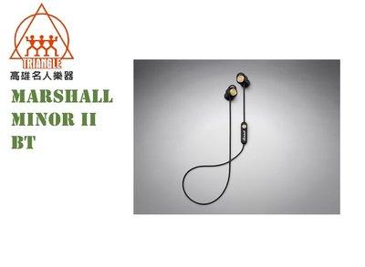 【名人樂器】2019 英國 Marshall Minor II Bluetooth 藍牙耳塞式耳機 黑