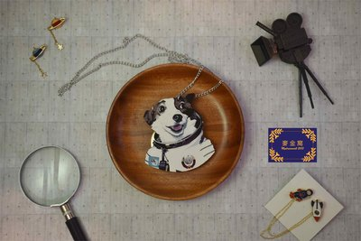 【 麥金窩 Mydreamwall 】木質動物項鍊 太空狗 狗項鍊 項鍊 舞會 木頭項鍊 熱舞 街舞 生日禮物 交換禮物