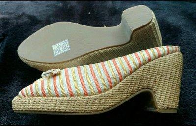 ❤特價❤全新DeSire蒂奈兒專櫃夏日風情籐編楔形魚口鞋