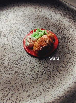 日式醬燒炸豬排套餐 豬排  擬真食物 DIY 配件 墬飾 手機貼片 道具 手作