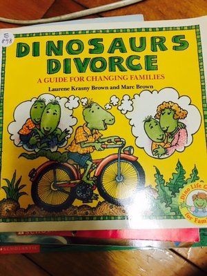 二手英文童書 Dinosaurs Divorce Book by Laurene Brown  E898