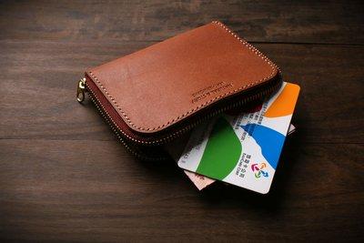 [NS手工皮件] 皮夾、皮包、錢夾、零錢包、拉鍊短夾 (免費打印)