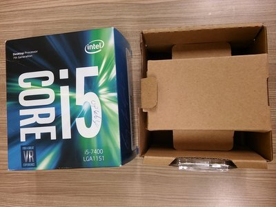 intel core i5-7400 空包裝盒 (有聯強盒裝cpu服務保固卡貼紙)沒CPU哦~