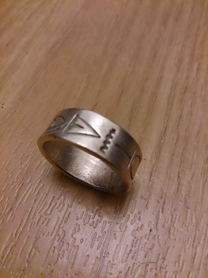 國外帶回 全新 純銀 男 手工雕刻 戒指 2
