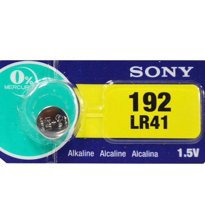 水銀電池S/192 LR-41N 鈕扣電池SONY LR41 AG3 手錶電池【DO265】☆EZ生活館☆