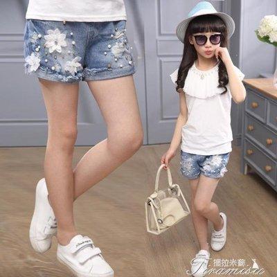 ZIHOPE 女童牛仔短褲 新款韓版破洞夏裝中大童兒童褲子薄款外穿時尚ZI812