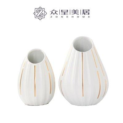 千禧禧居~北歐現代極簡小花瓶臥室書房酒店軟裝擺件花瓶樣板房高溫陶瓷花瓶