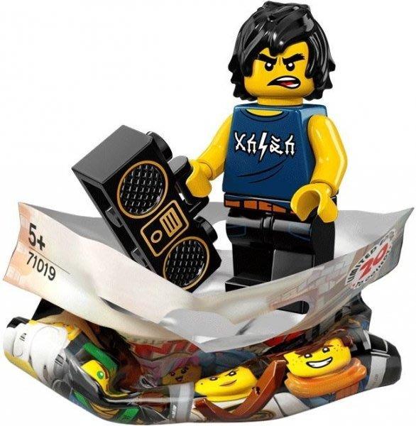 現貨【LEGO 樂高】積木/ Minifigures人偶包系列 忍者電影 71019   #8 背心阿剛+手提音響