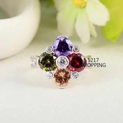 3折流行時尚鋯石戒指 彩鑽 宴會 派對 生日禮物 情人節禮物 送禮 5217SHOPPING R11 161011