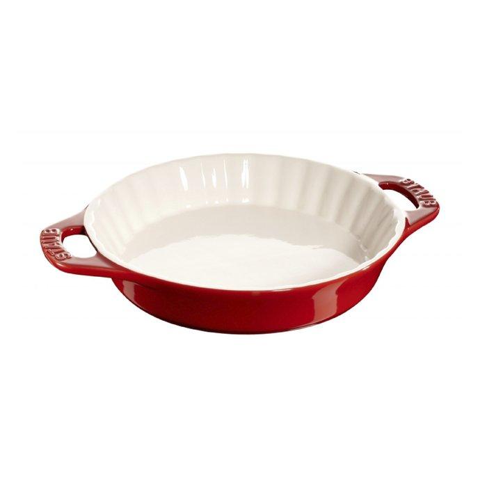 法國 Staub 28公分 圓型烤盤 焗烤盤 紅/白/藍