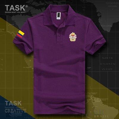 TASK 哥倫比亞海軍翻領POLO衫男女短袖Colombia國家部隊軍裝T恤夏
