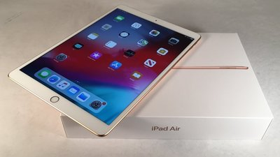 APPLE 金 iPad Air 3 256G高容量 近全新 高階A12 保護貼 刷卡分期零利率 無卡分期