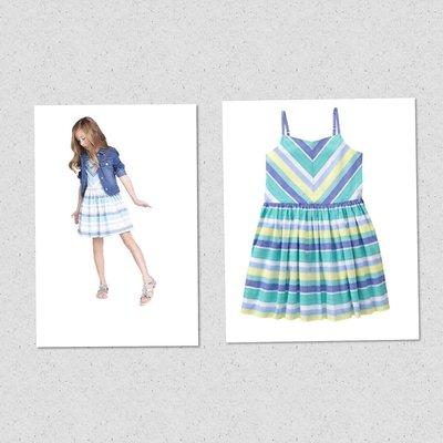 美國GYMBOREE正品 新款Multi-Striped Dress細肩條紋連身裙洋裝7T.8T.10T...售350元