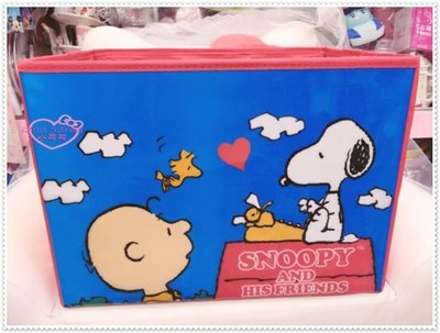 小公主日本精品 Hello Kitty snoopy史努比可摺疊置物箱/收納箱/玩具箱 整理箱 紅色12021802