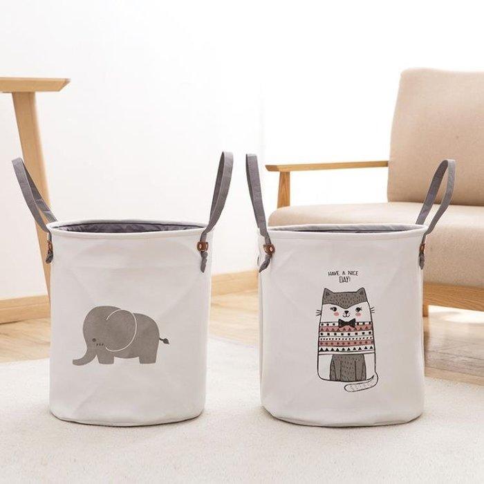 居家家 卡通臟衣籃放臟衣服的收納桶 可折疊大容量衣物玩具收納筐 免運費